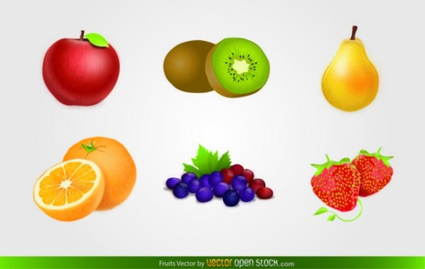 5280-Fruits-Vector-600x380 フレッシュフルーツ!(リンゴ、キーウイ、マンゴー、オレンジ、グレープ、イチゴ)ベクタークリップアート素材