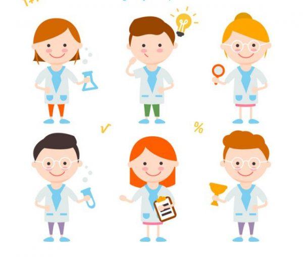6-cartoon-science-children-vector-m-600x509 6種類のお医者さんアバター(キャラクター)イラスト素材