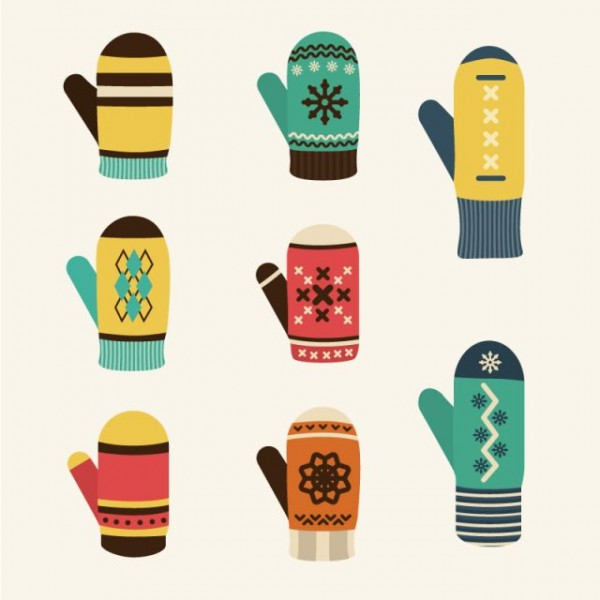 8-cartoon-winter-glove-vector