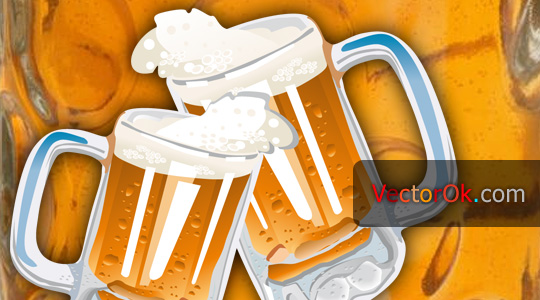 A glass of beer vector eps