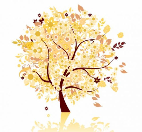 Abstract-Autumn-Tree-Vector-Graphic-600x555 抽象的に描かれた秋の紅葉樹。無料ベクターイラスト素材