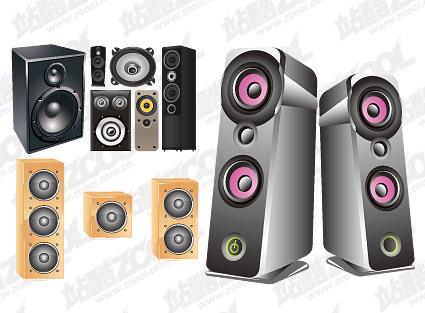 Accommodates-Speaker-vector-material-2 カッコいい高級オーディオ用スピーカーのベクタークリップアート素材