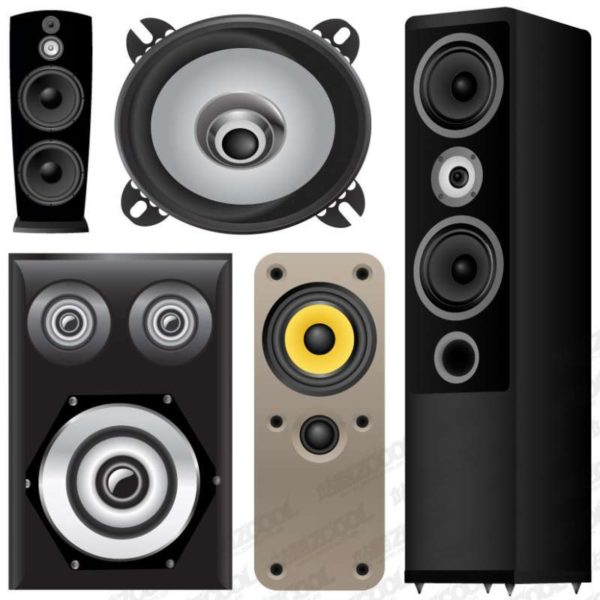 Accommodates-Speaker-vector-material-600x600 カッコいい高級オーディオ用スピーカーのベクタークリップアート素材