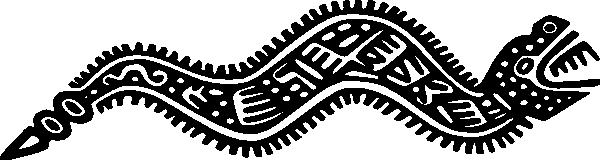 Ancient_Mexico_Motif_Snake_clip_art_hight 年賀状の素材としても使える干支(巳)の無料ベクターイラスト素材