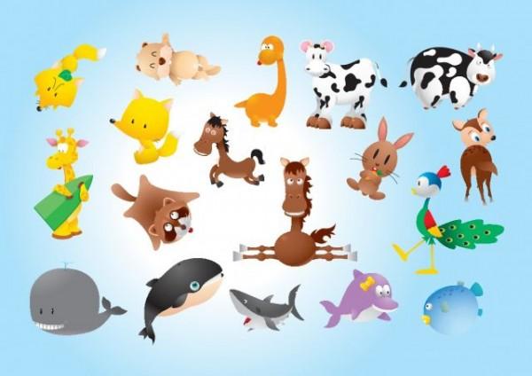 Animal-Comics-2-600x424 ゆるゆるでかわいい動物のイラスト素材集(干支・年賀状)