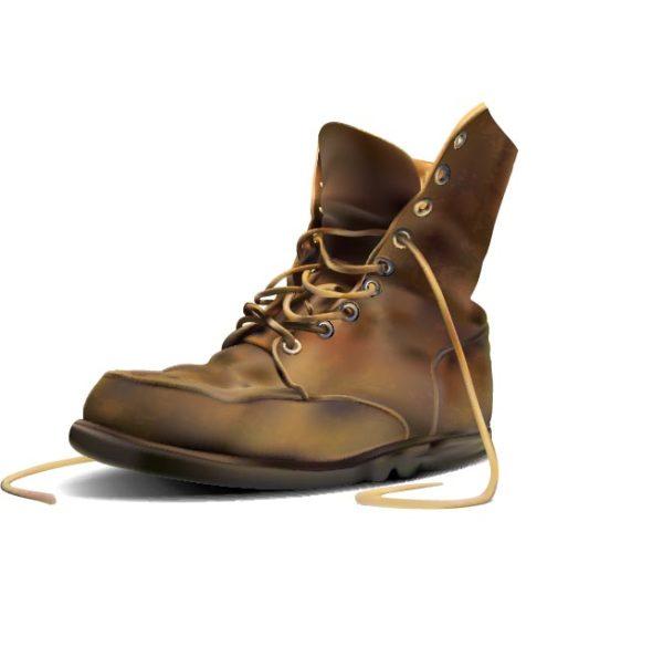 Army-Boot-Vector-600x594 無料ベクタークリップアート。レッドウィングみたいな革のブーツ
