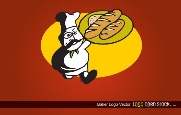 Baker-Logo-Vector ロゴの参考に!パン屋さんの無料ベクターイラスト素材
