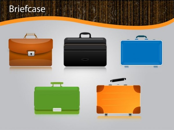 Briefcase-Vector-600x450 5種類揃ったブリーフケースの無料ベクタークリップアート素材