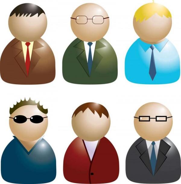 Business-icons-3D-villain-avatar-glasses-man-icon-vector-600x607 サラリーマン風のビジネスマン・アバター・クリップアート素材6種類
