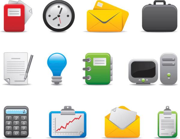 Business-icons-templates-vector-600x465 無料のベクターアイコンタイプ・イラスト素材。ビジネス関連12個