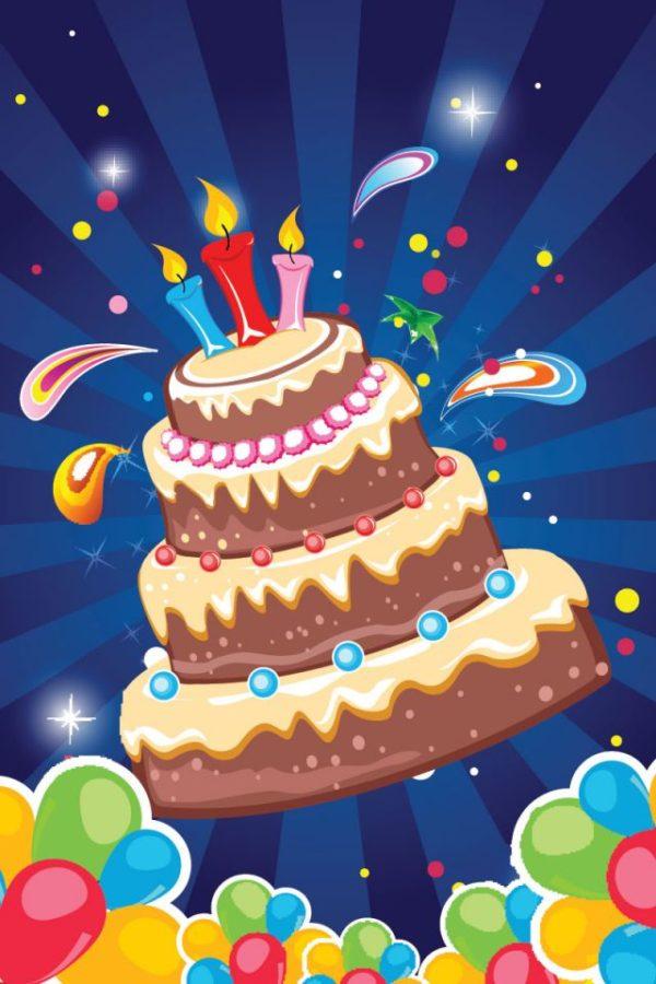 Cake-card-background-600x900 超豪華なお誕生日ケーキ!無料ベクターイラスト素材