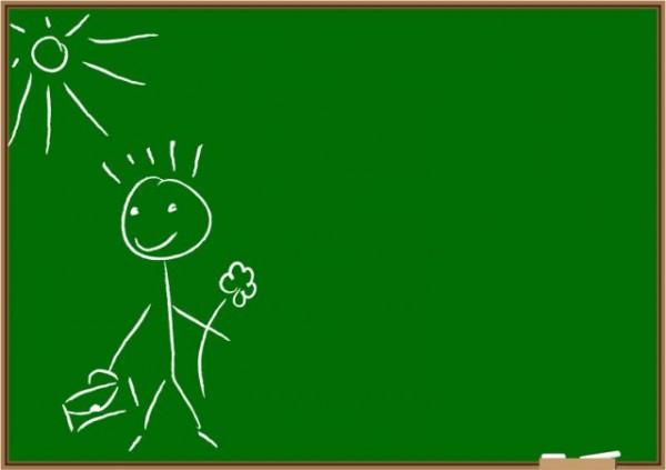 Children-on-the-blackboard-graffiti-vector-material-600x423 イタズラ書きされた黒板のベクターイラスト素材(フリー)