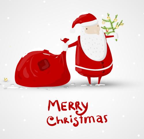 Christmas-Illustration-vector-5 ゆるキャラ!サンタクロースの無料ベクターイラスト素材