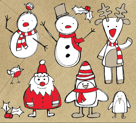 Christmas-Sketch-Vectors