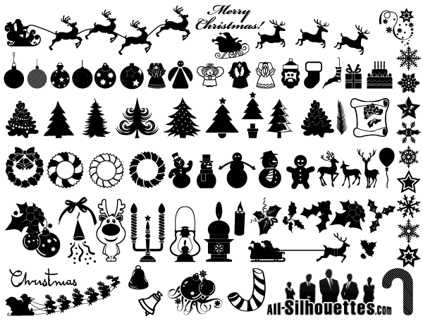 Christmas-Vector-Clip-Art-Free-Download クリスマスの無料ベクタークリップアート素材