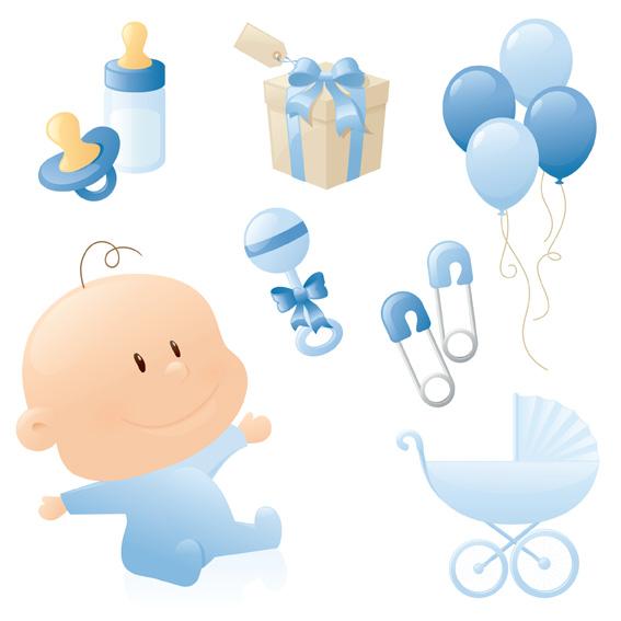 Cute-baby-style-Vector キュートな赤ちゃんにまつわる無料のベクタークリップアート素材