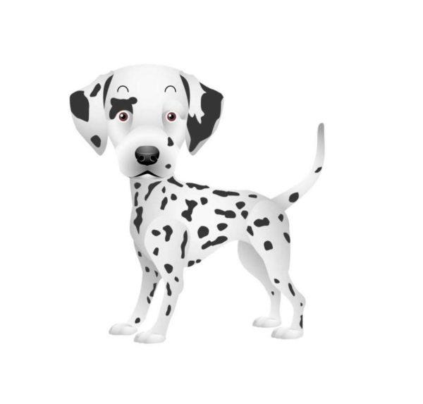 Dalmation-Vector-21-600x573 無料ベクターイラスト素材。キュートなダルメシアンの子犬