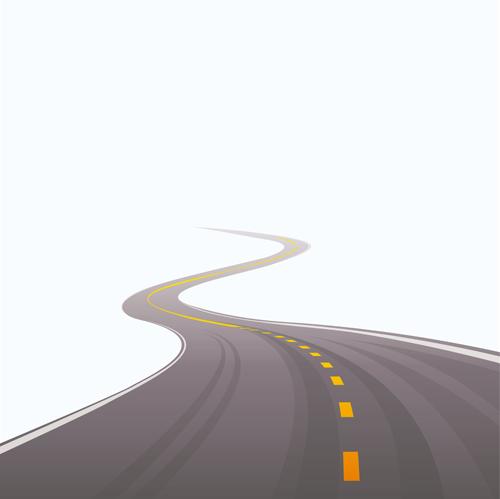 Different-Winding-road-design-vector-04 ワインディングロードのフリーベクターイラスト素材04