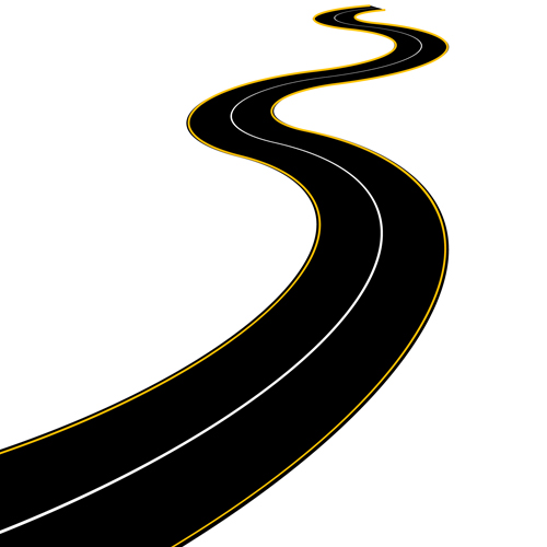 Different-Winding-road-design-vector-05 ワインディングロードのフリーベクターイラスト素材05