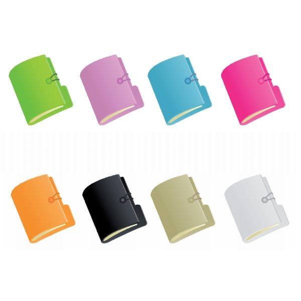 Document_Folders-600x600 シンプルでスッキリデザインの書類ファイル。8色のベクタークリップアート素材