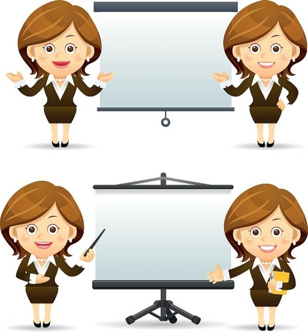 Elegant-people-businesswoman-and-businessman-vector-3-600x648 仕事が出来そうなビジネスウ-マンのベクターイラスト素材