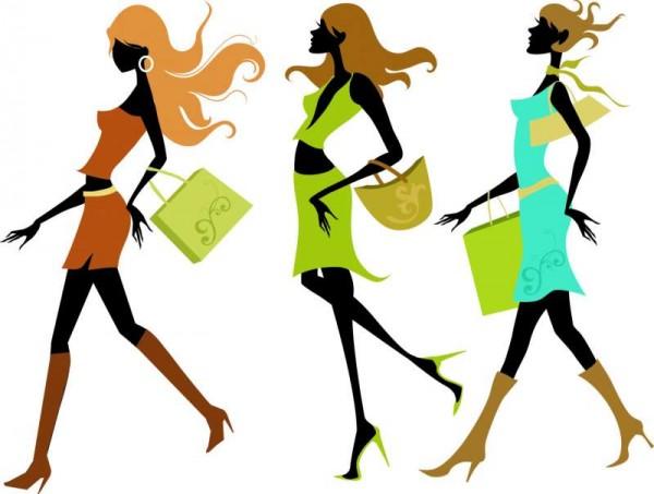Fashion-Shopping-Girl-Vector-01-600x453 ショッピングを楽しむファッショナブルな13種類の女性のベクターイラスト素材