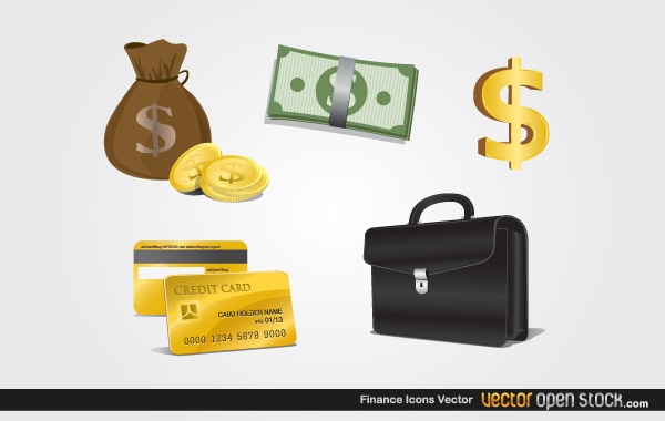 Finance Icons -- Vector Open Stock