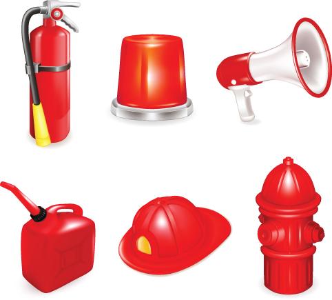 Firefighter-2 火の用心!消防グッズ無料ベクタークリップアート素材02