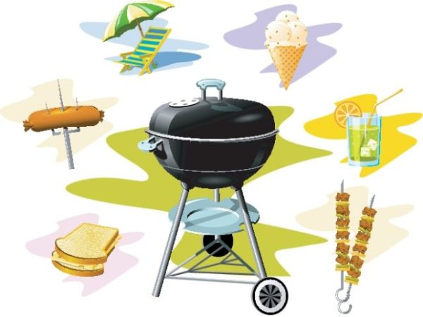 Free-Barbecue-Grill-vector-Graphics-600x450 バーベキュー(BBQ)に関連した無料ベクタークリップアート素材