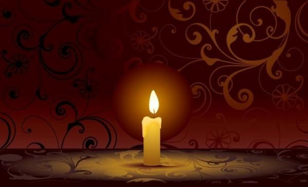 Free-Candle-on-decorative-vector-Graphics1-600x365 高品位なロウソク(キャンドル)の無料ベクターイラスト素材