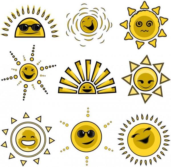 Free-Clip-Art-Vector-Sun-600x587 アニメ風!太陽の無料ベクタークリップアート素材