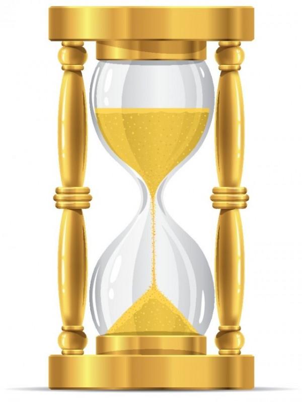 Free-Gold-sand-glass-clock-vector-Graphics-600x799 ゴールドで豪華な砂時計の無料ベクタークリップアート素材