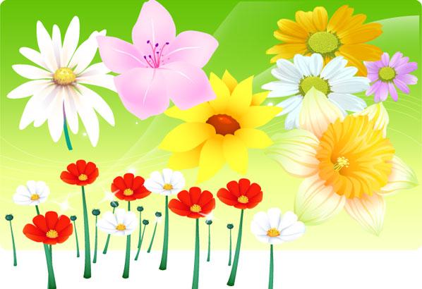 Free-Vector-Flowers ガーベラなど綺麗なお花の無料ベクタークリップアート素材