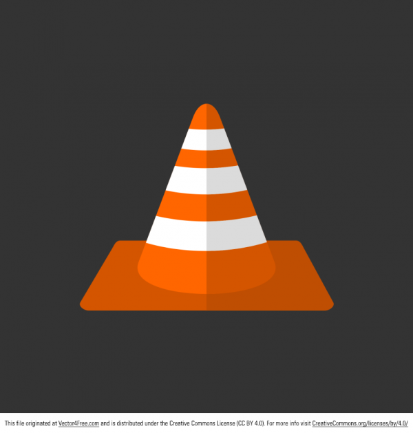 Free-Vector-Orange-Traffic-Cone-600x629 安全標識・保安器具(カラーコーン)のベクター・フリー・フラット・イラスト素材