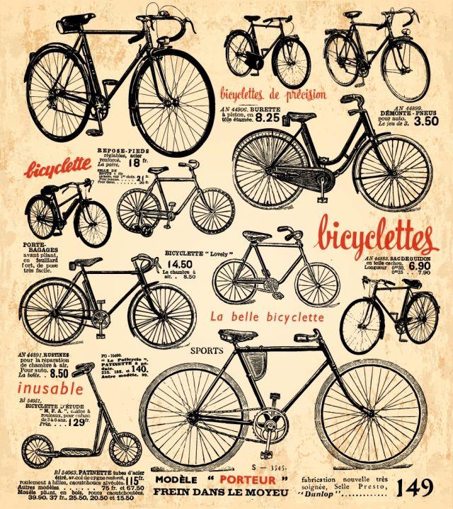 フリーベクターレトロな自転車のクリップアート集 All Free Clipart