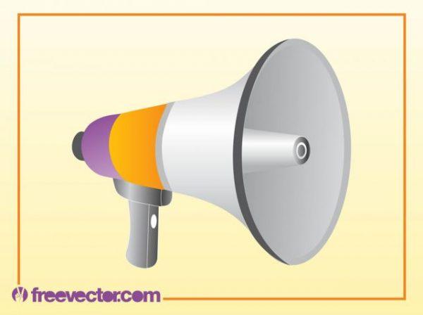 FreeVector-Megaphone-Vector-600x448 拡声器の無料ベクタークリップアート素材