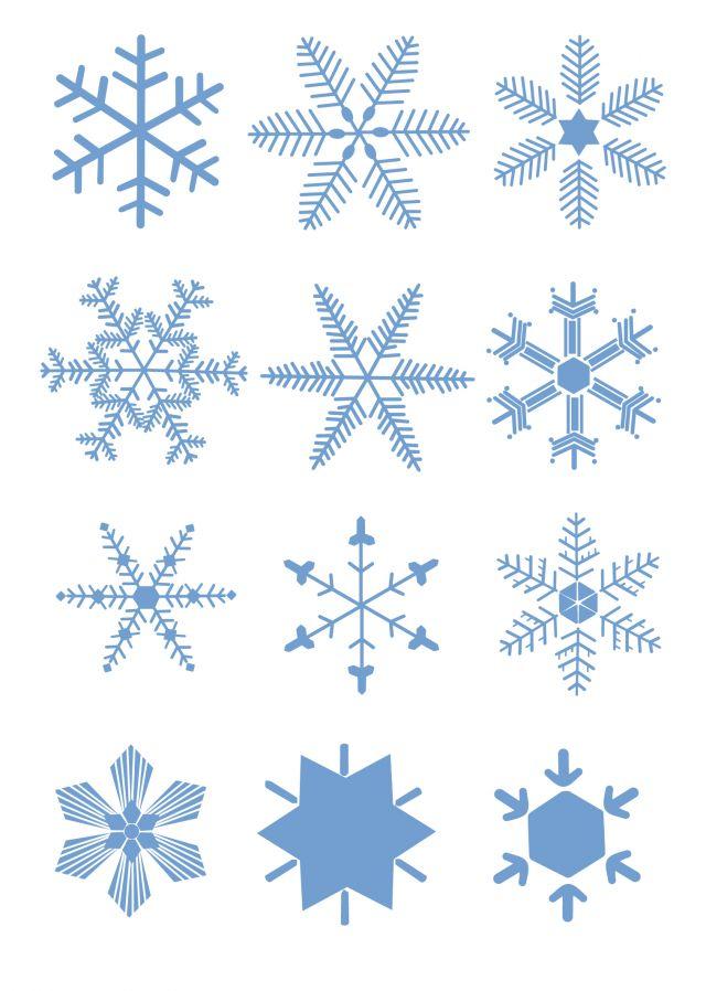 かわいいデザインの雪の結晶無料ベクターイラスト素材 All Free