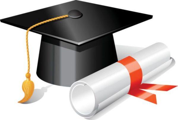Graduation3-600x405 卒業証書と帽子。無料ベクタークリップアート素材セット