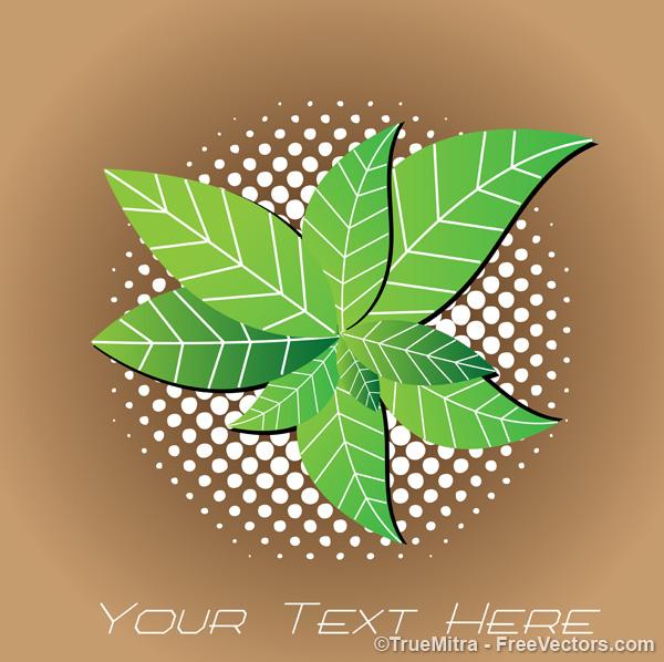 Green-Leaves-Background カードの背景に最適なかわいい植物の無料ベクターイラスト素材