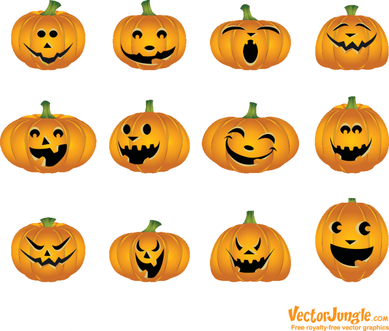 Free Halloween Vector Pumpkins – VectorJungle – Free Vector Art ...