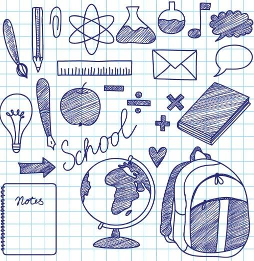 Hand-Drawn-School-Design-Elements-Vector