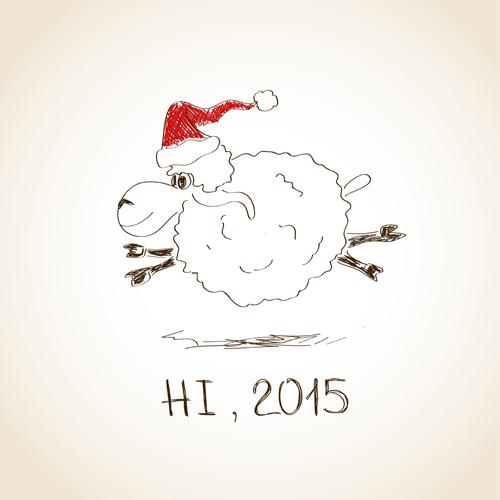 Happy New Year sheep 2015