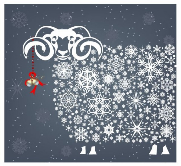 Holidays_snowflakes_sheep