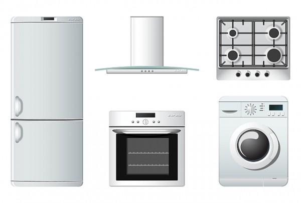 Kitchen-Appliances-600x406 ハイクオリティー!キッチンにまつわるアイテム・ベクターイラスト素材