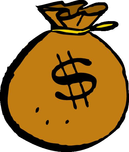 Money_Bag_clip_art_hight シンプルなドル袋のフリーベクタークリップアート素材。