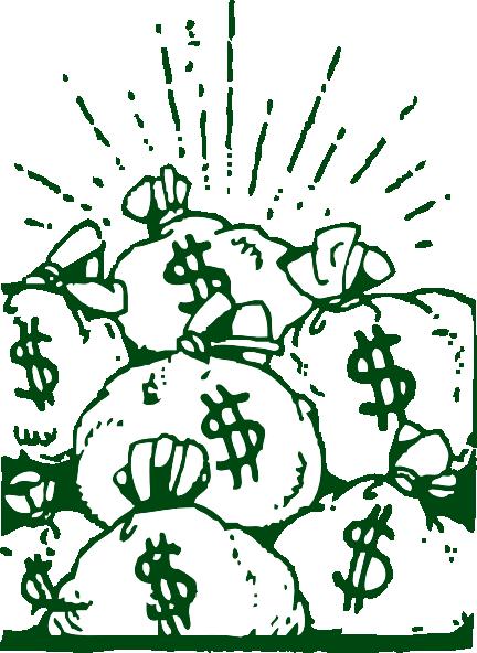 Money_Bags_clip_art_hight 山積みになったドル袋のフリークリップアート素材。