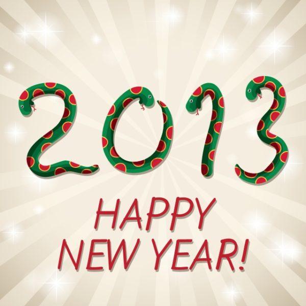 New-Year-2013-snake-backgrounds-vector-600x600 4種類のヘビ(干支・巳)の無料ベクターイラスト素材