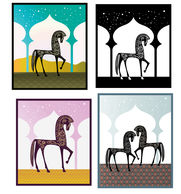 One Thousand Nights Vector Freebie