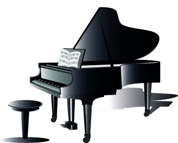 PIANO-VECTOR-CLIP-ART-600x482 グランドピアノの無料ベクターイラスト素材