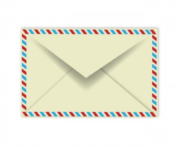 Retro-Envelope-600x485 レトロなエアメール(封筒)の無料ベクターイラスト素材